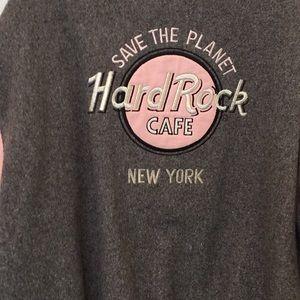 Jackets & Coats - Hard Rock Cafe Jacket - Leather & Wool - New York